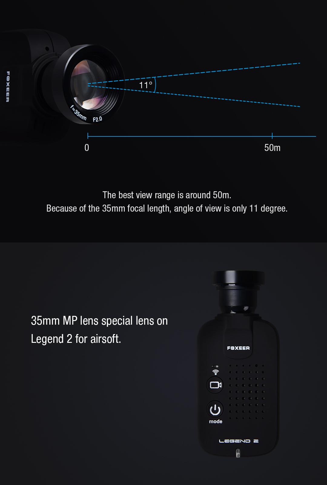 MTV M12 35mm Megapixel IR Block Lens For Legend 2 Airsoft
